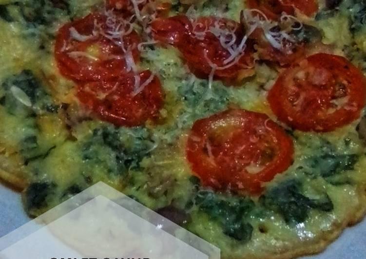 Omelette sayur keju