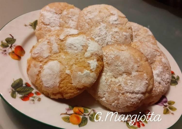 Biscotti morbidi alle mandorle e aroma di arancia, ricordi d'infanzia 🥰❤