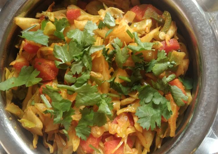 Recipe of Ultimate Healthy cabbage sabji