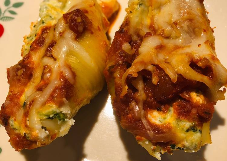 Recipe: Yummy Spinach Stuffed Shells
