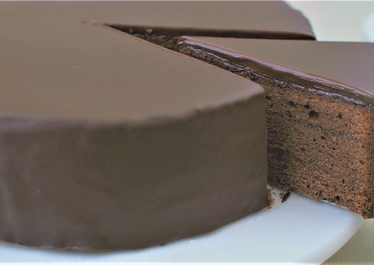 Sachertorte (chocolate cake)★Recipe video★