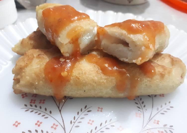 Tacos enrrollados de papa con queso