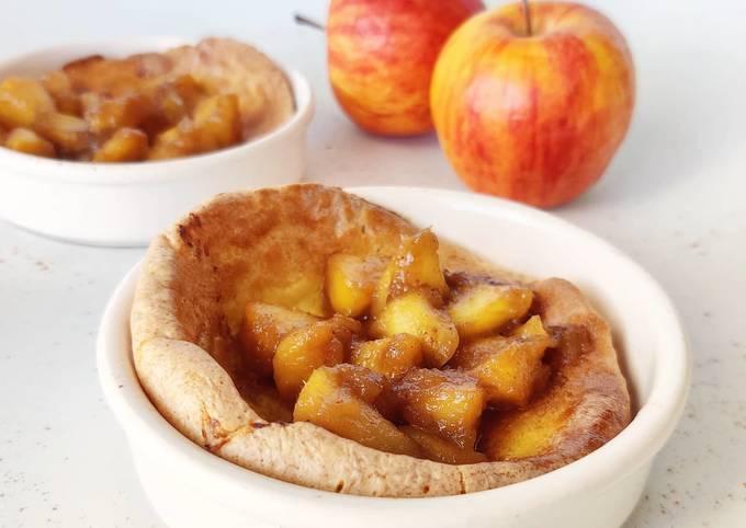 Crêpes soufflées aux pommes caramélisées