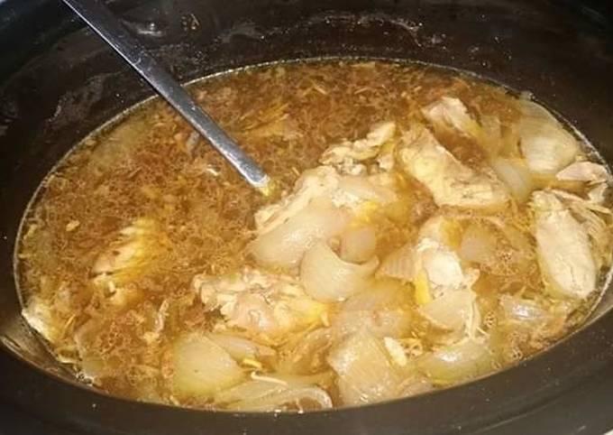Recipe: Appetizing French Onion Chicken w/stuffing (crocpot)