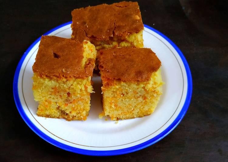 Moist Eggless Carrot Cake
