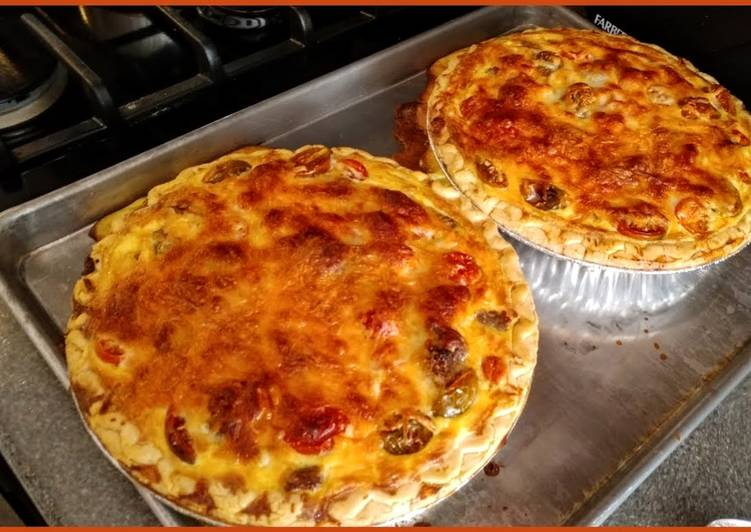 Spicy Sausage and Tomato Quiche