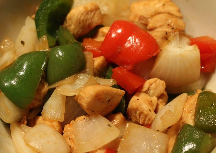 Simple Way to Make Homemade Chicken and Bell Peppers