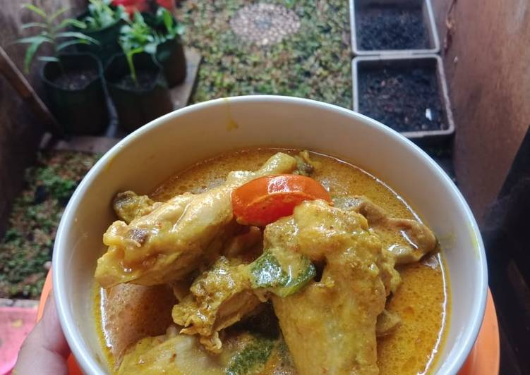 Cara Membuat Gulai Ayam Kampung (Tanpa Santan) Anti Gagal