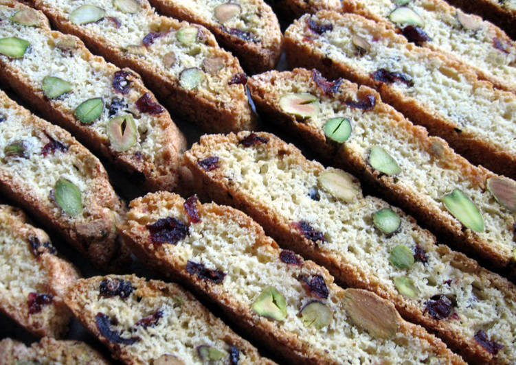 Use Food to Elevate Your Mood Cranberries & Pistachio Biscotti