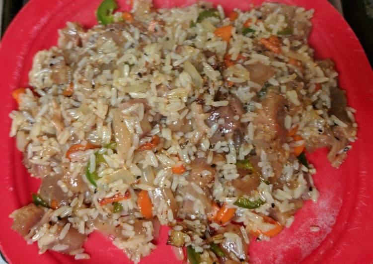 Beef Tendon Stir-fry Rice