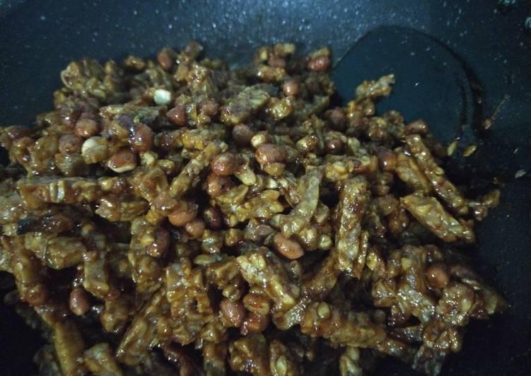 Orek tempe kacang check 😁