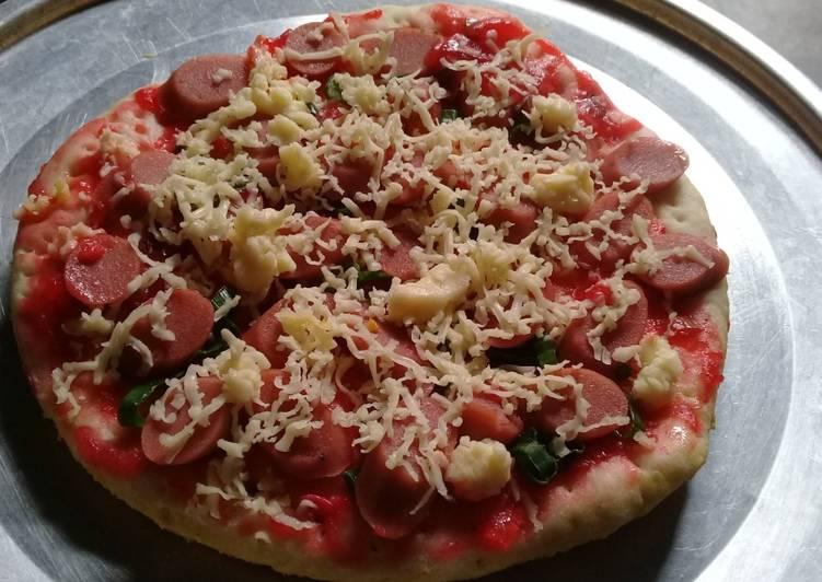 🍕🍕 Pizza Teflon 🍳 pakai Loncang Mak nyuuus 🤗