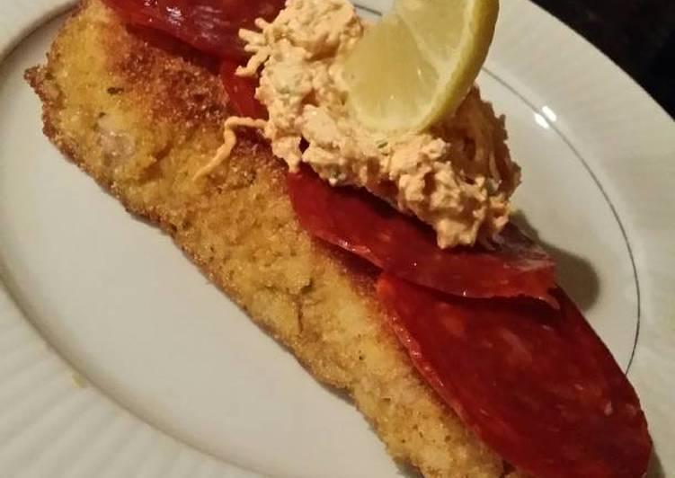 How to Prepare Tasty Brad's wild rockfish w/ Spanish chorizo & jalapeño snow crab dip