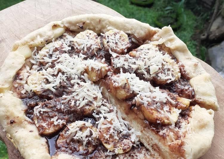 Pizza Pisang Coklat Teflon