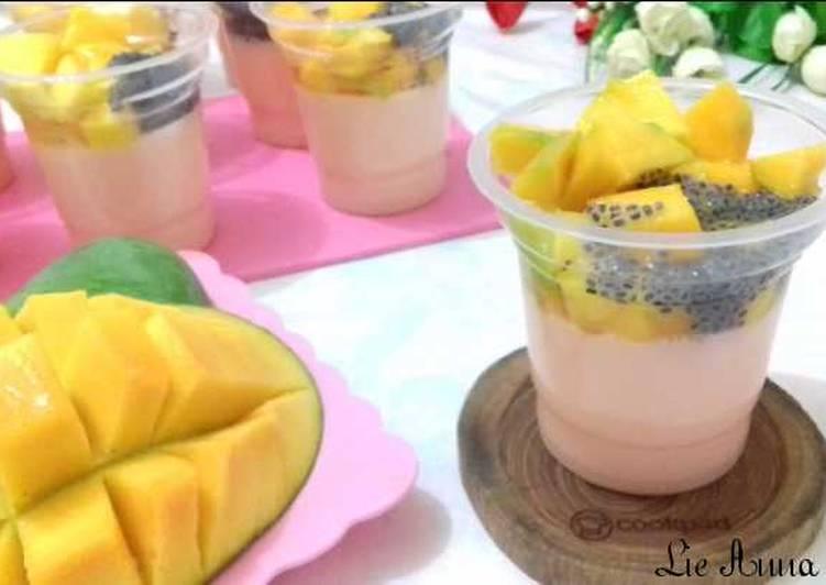 (42.4) Pudding Mangga Susu Selasih