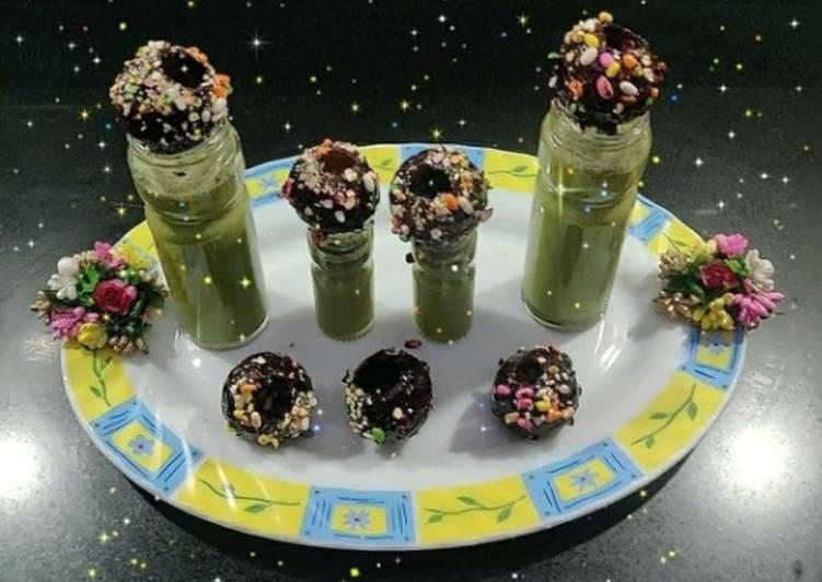Chocolate golgappa with paan shots