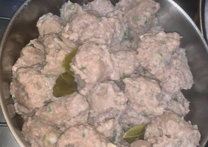 Baso Bakso Empuk (resep bisa untuk dimsum sapi atau ayam)