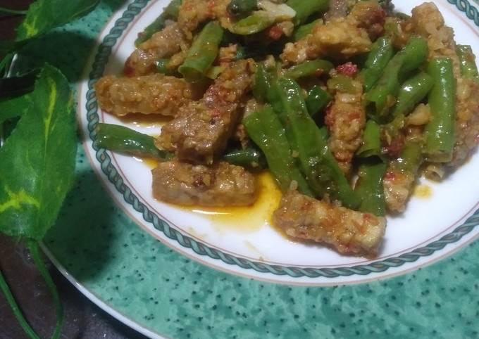 sambal tempe kacang panjang - resepenakbgt.com
