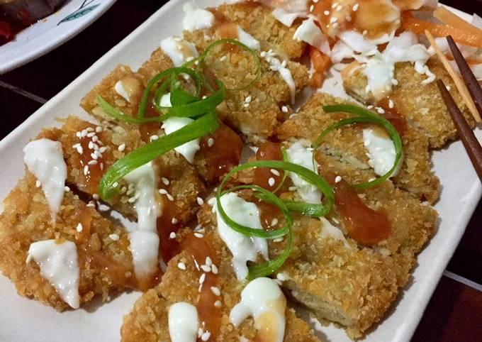 Resep Tempe Katsu dan Salad Hokben 🌟, Bikin Ngiler
