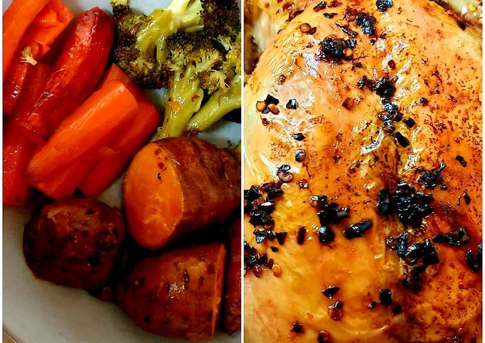My All together Roast. Red Peppered Chicken + Veg. #Mainmeal
