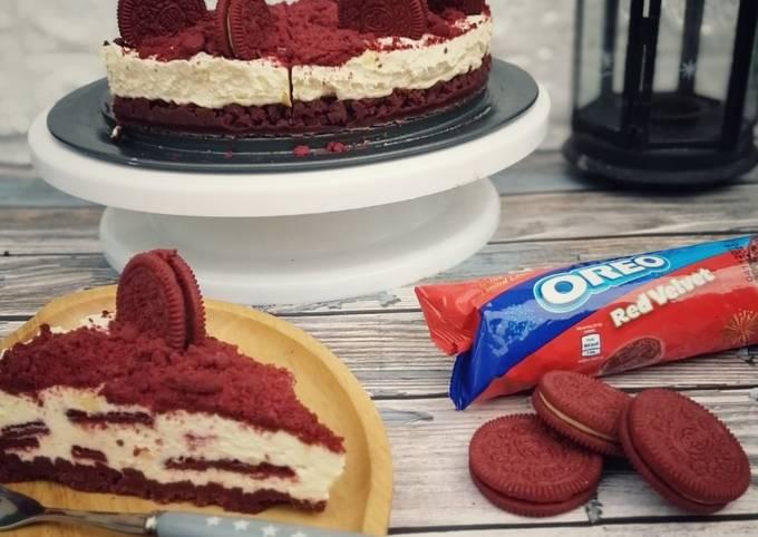 No Bake Cheese Cake Oreo Red Velvet