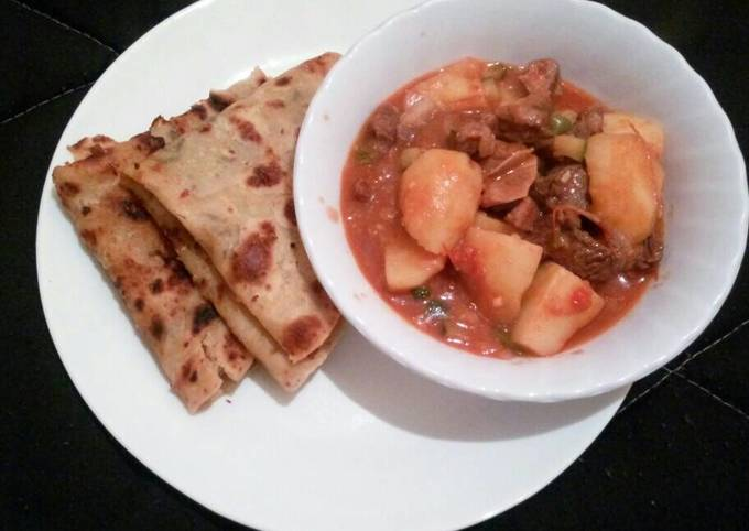 Stewed Beef and Chapati