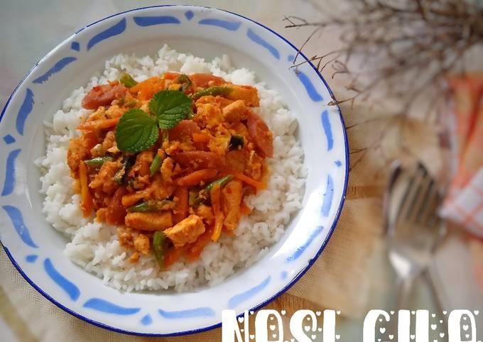 Nasi Gila (versi ayam, sosis, sayur)