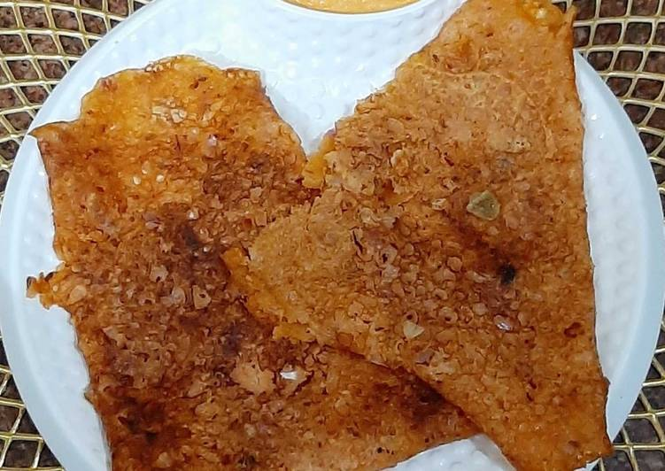 Best Comfort Dinner Easy Diet Perfect Schezwan Onion Rava Dosa With Schezwan Coconut Chutney