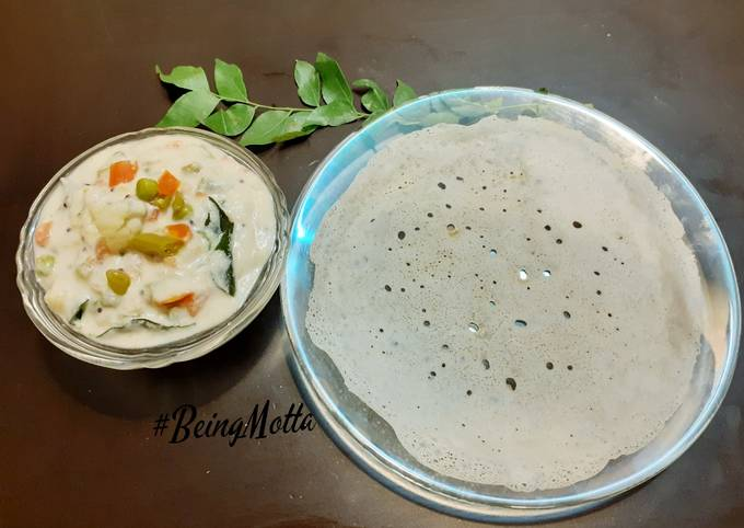 Simple Way to Make Delicious Appam with Veg Stew