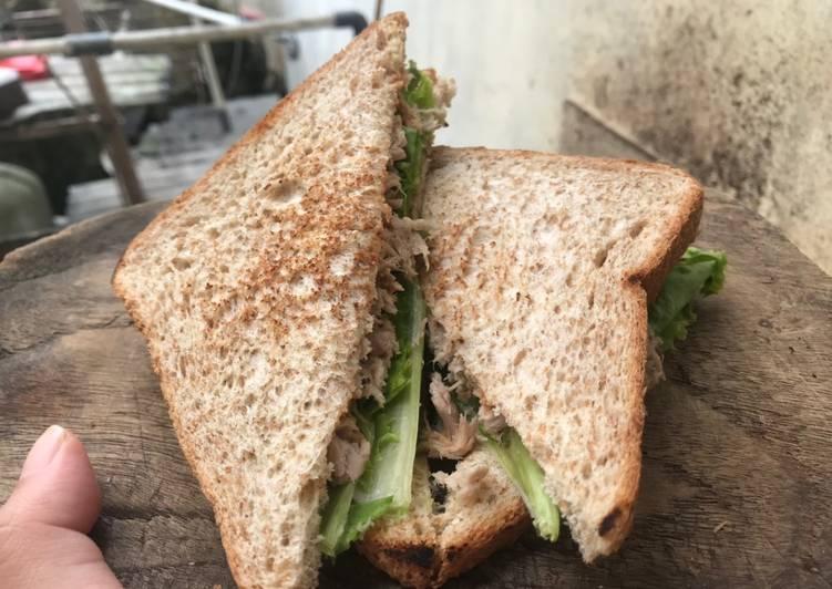 Resep Tuna Sandwich Diet Simple