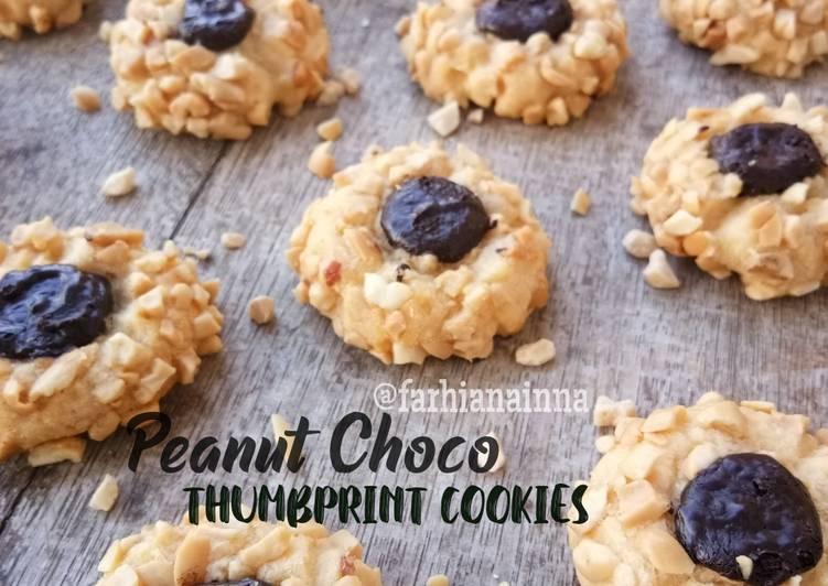 Peanut Choco Thumprint Cookies