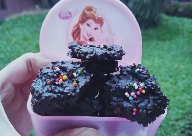 Choco Oat Cookies (No Bake)
