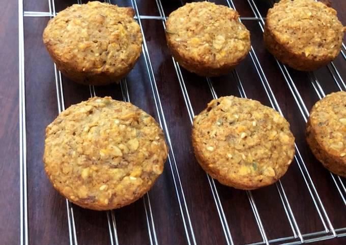 Recipe: Delicious Carrot Banana Muffins (no eggs)