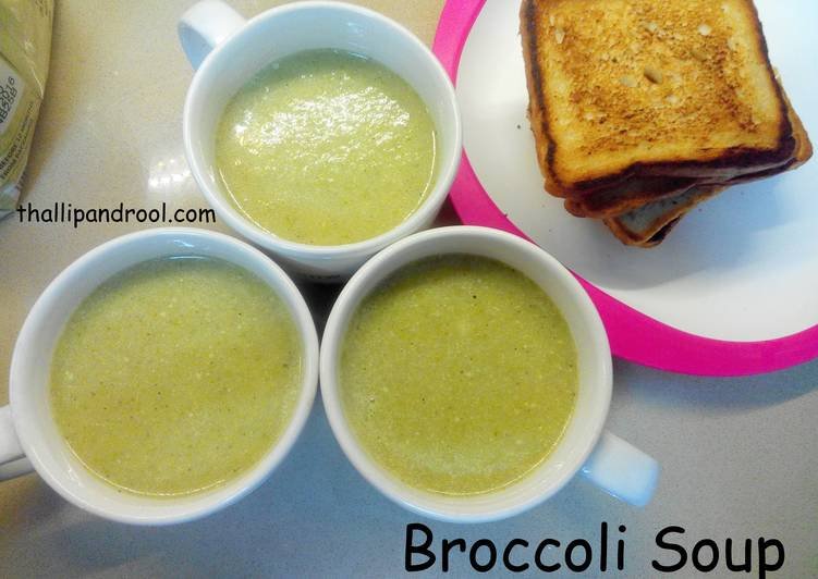 Easiest Way to Prepare Super Quick Homemade Broccoli Soup
