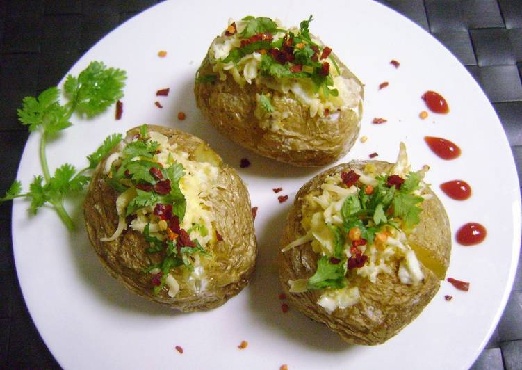 Simple Way to Make Quick Stuffed Baked Jacket Potatoes