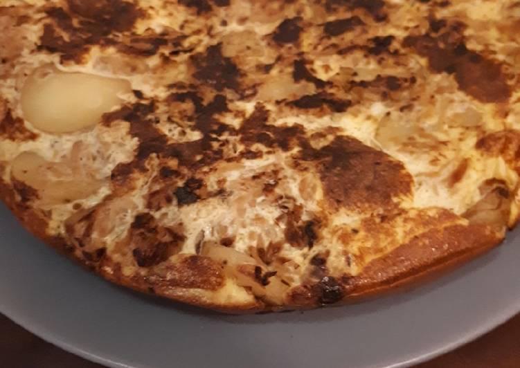 recette Tortilla chou et pomme de terre délicieux