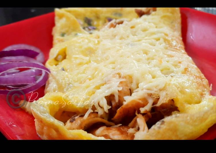 Recipe of Favorite Chicken Cheese Omelette