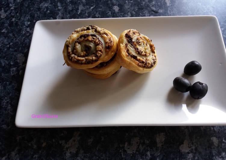 Escargots feuilletés à l'olive