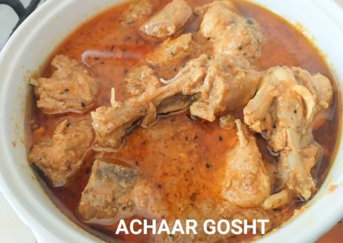 Achaar gosht /quick and easy chicken pickle gravy curry