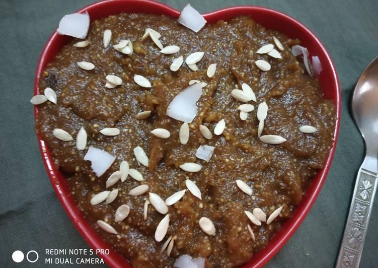 Buckwheat flour halwa