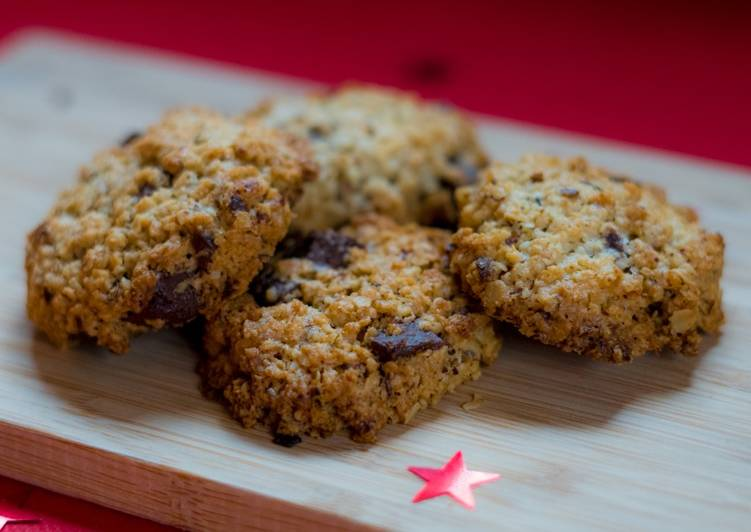 Les Meilleures Recettes de Cookies à l'avoine et chocolat sans gluten