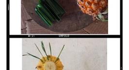 Hình ảnh món Sinh tố chuối + thơm + lá dứa không đường giảm cân