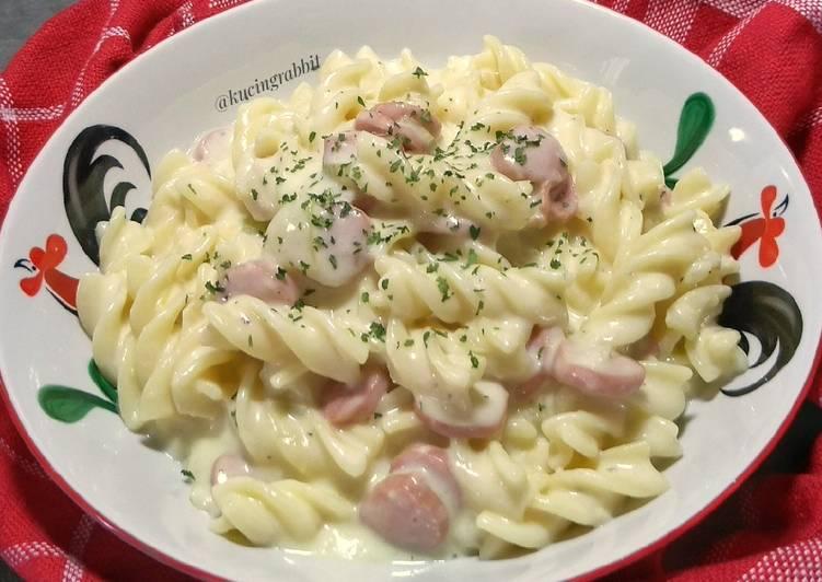 Resep 1 1 Creamy Fusilli Cheese Oleh Kucingrabbit Anny Cookpad