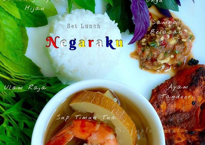 Sambal Belacan Mangga Muda (Eat Clean Healthy Lunch)