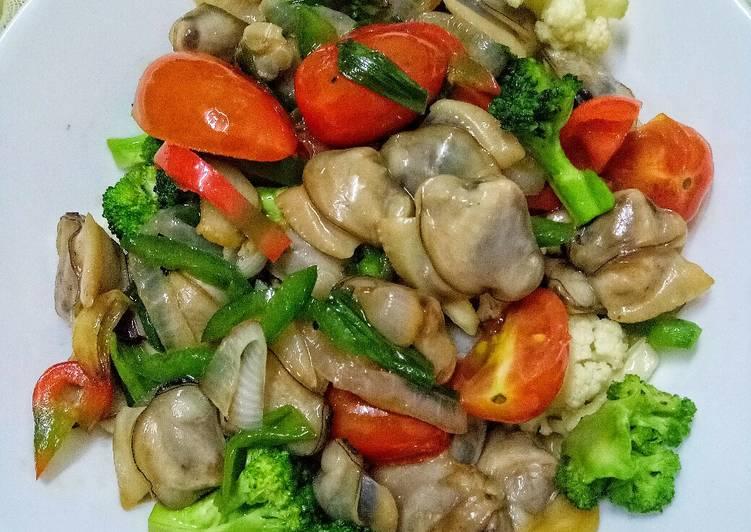 Lokan Goreng Sayur Campur