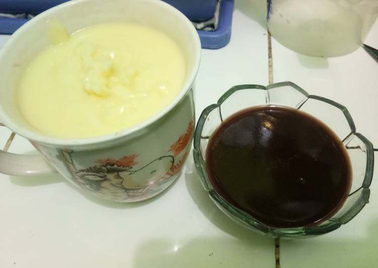 🍮🍫Pudding Cokelat Fla Susu🍫🍮