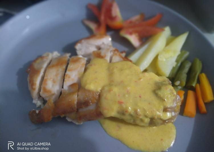 Ayam Panggang Saus Kari Kental - cookandrecipe.com