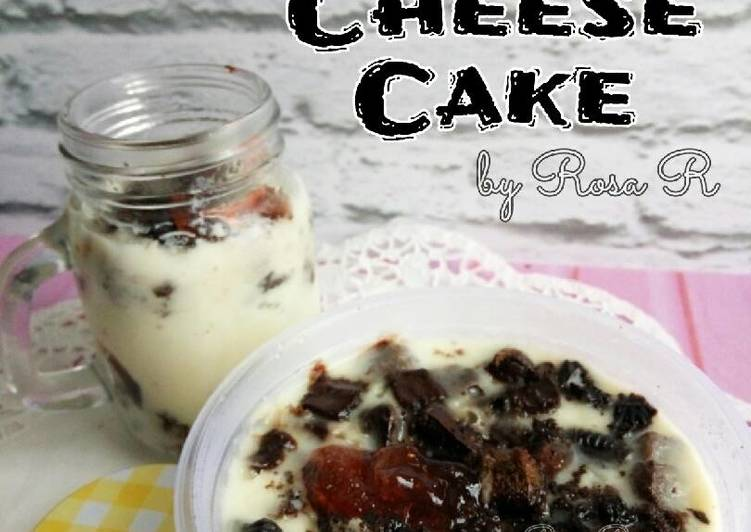 Cold Cheese Cake Oreo No Bake (SUPER SIMPLE)