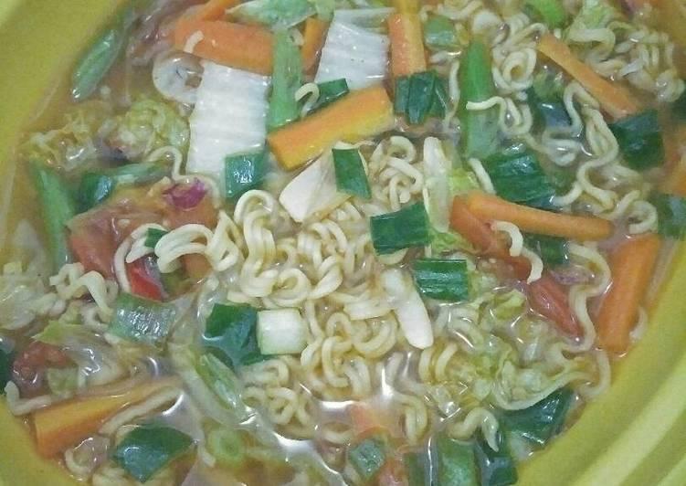 Resep Indomie kuah sayur Paling Gampang