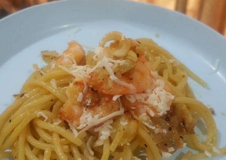 Pasta Aglio Olio (makanan anak)